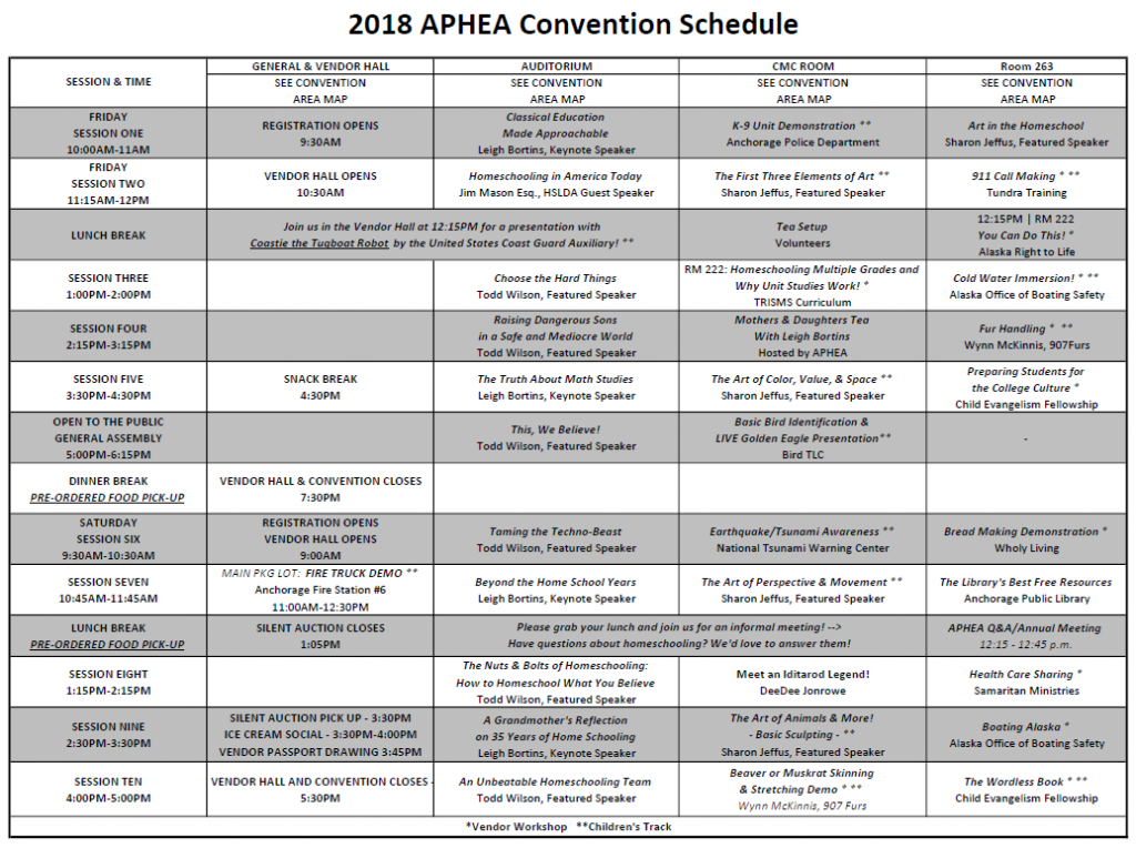2018_APHEA_Convention_Schedule_FINAL